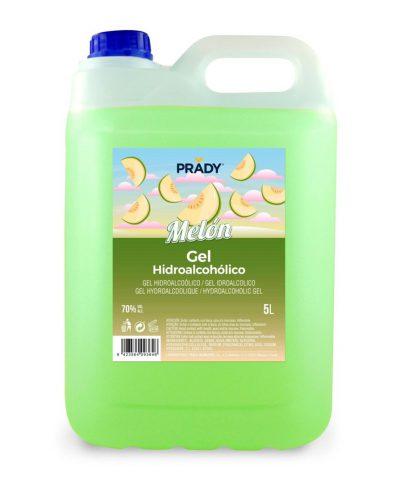Prady Gel Hidroalcoholico Higienizante 5L – Aroma de Melon – Alcohol 70%